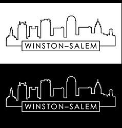 winstonsalem skyline linear style editable vector image
