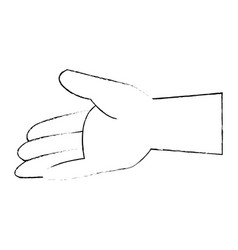 isolated opened hand vector image