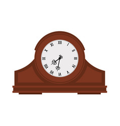 analog old wooden wall clock vector image vector image