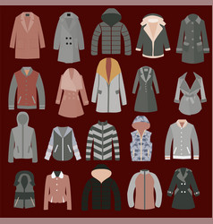 autumn spring and winter seasonal clothing vector image