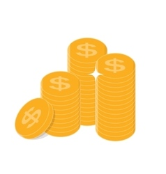 Gold Coins Icon Sign Business Finance Money vector image vector image