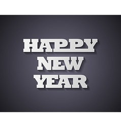 Happy new year Paper style vector image