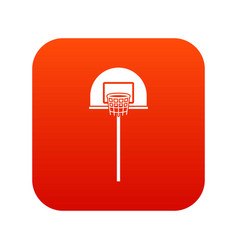 street basketball hoop icon digital red vector image vector image
