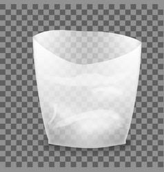 open white blank plastic bag vector image vector image