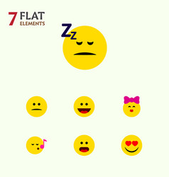 Flat icon expression set of descant love vector