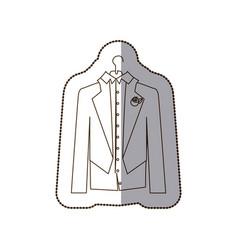 gloom elegant suit icon vector image