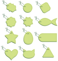 labels green vector image
