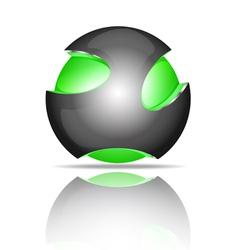 Light ball logo vector image vector image