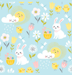 pastel easter pattern vector image vector image