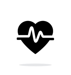 Pulse heart icon on white background vector image