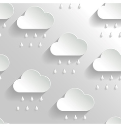 Abstract Background with Paper Rainy Clouds vector image