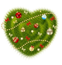 Abstract beauty Christmas and New Year heart vector image