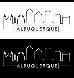 Albuquerque skyline linear style editable file vector