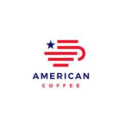 American coffee logo icon vector