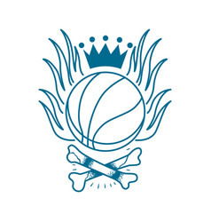 Basketball emblem tattoo vector