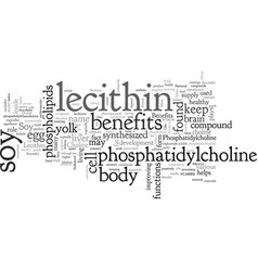 Benefits soy lecithin vector