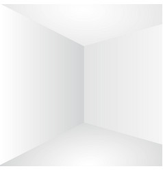 Blank persfective white wall corner vector