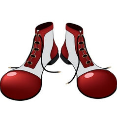 Boots for the clown Cartoon vector