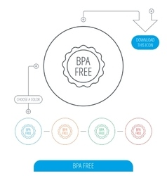 BPA free icon Bisphenol plastic sign vector