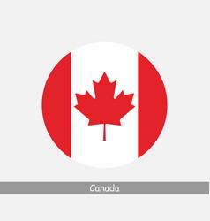 canada round circle flag vector image