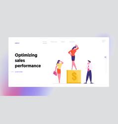 Career success website landing page vector