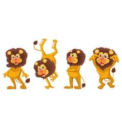 Cartoon lions set vector
