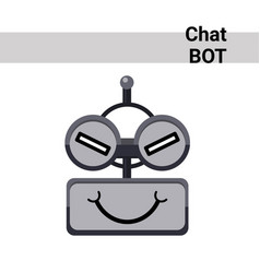 Cartoon robot face cunning cute emotion chat bot vector