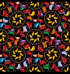 colorful paisley seamless pattern bright vector image