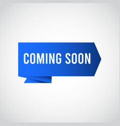 Coming soon label tag logo template design vector