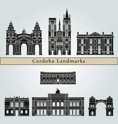 cordoba ar landmarks vector image