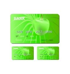 Credit or debit green card vector