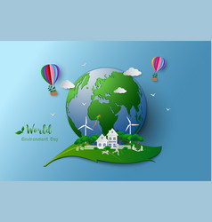 eco friendly and environment conservation vector image