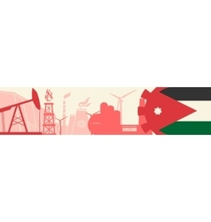 Energy and Power icons set Jordan flag vector