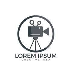 Film or movie camera logo design vector