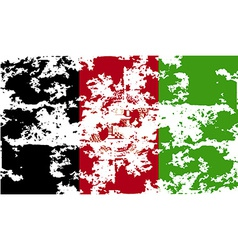 Flag of Afghanistan with old texture vector image