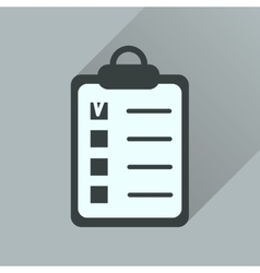Flat icon with long shadow Business questionnaire vector