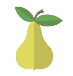 Flat style pear isolated vector