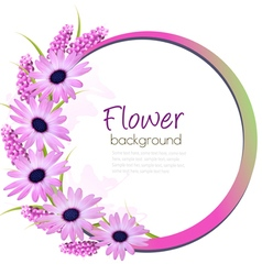 Flower background with beautiful purple flowers vector