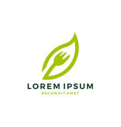 Fork leaf logo vector