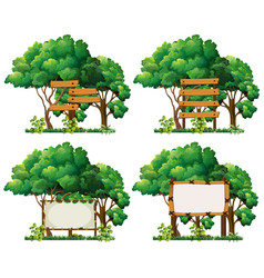 Four frame templates on big trees vector