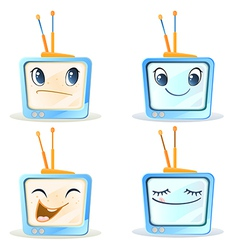 Four funny tv vector