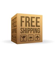 Free Shipping Box vector image