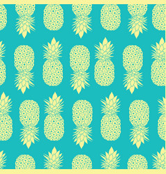 fresh blue yellow pineapples geometric vector image