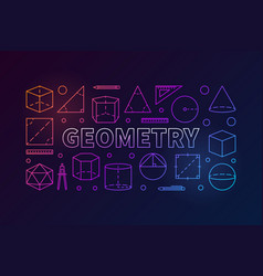 geometry subject colorful vector image
