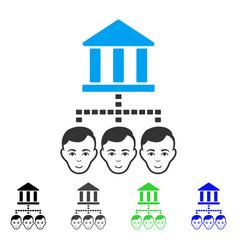 Glad bank clients icon vector