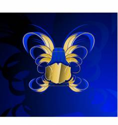 Gold and glow blue banner vector