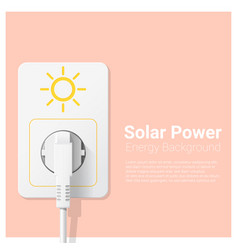 Green energy concept background with solar power vector