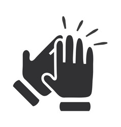 Hands clapping symbol icons vector
