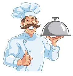 healthy fit muscly chef vector image