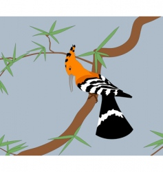 Hoopoe on the tree vector
